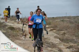 Sara y Bruma llegando a meta.